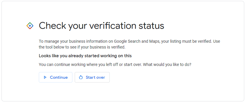 check verification status
