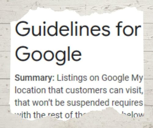 guidelines for google my business