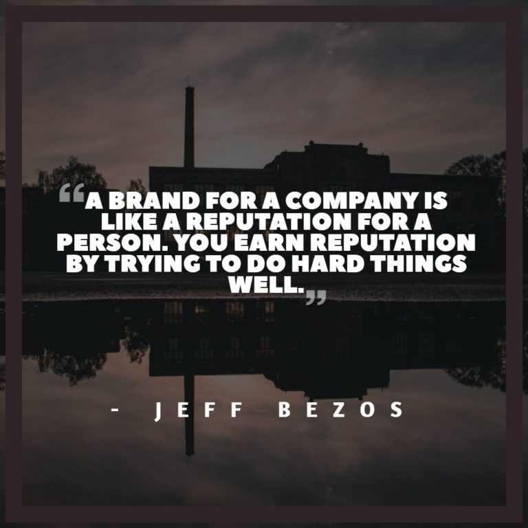 jeff bezos quote about reputation