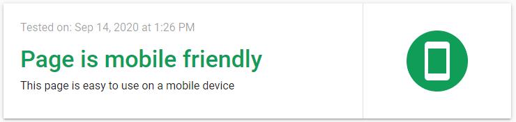 mobile friendly test ok