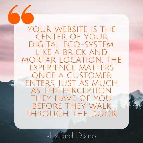 Quote web development content creation