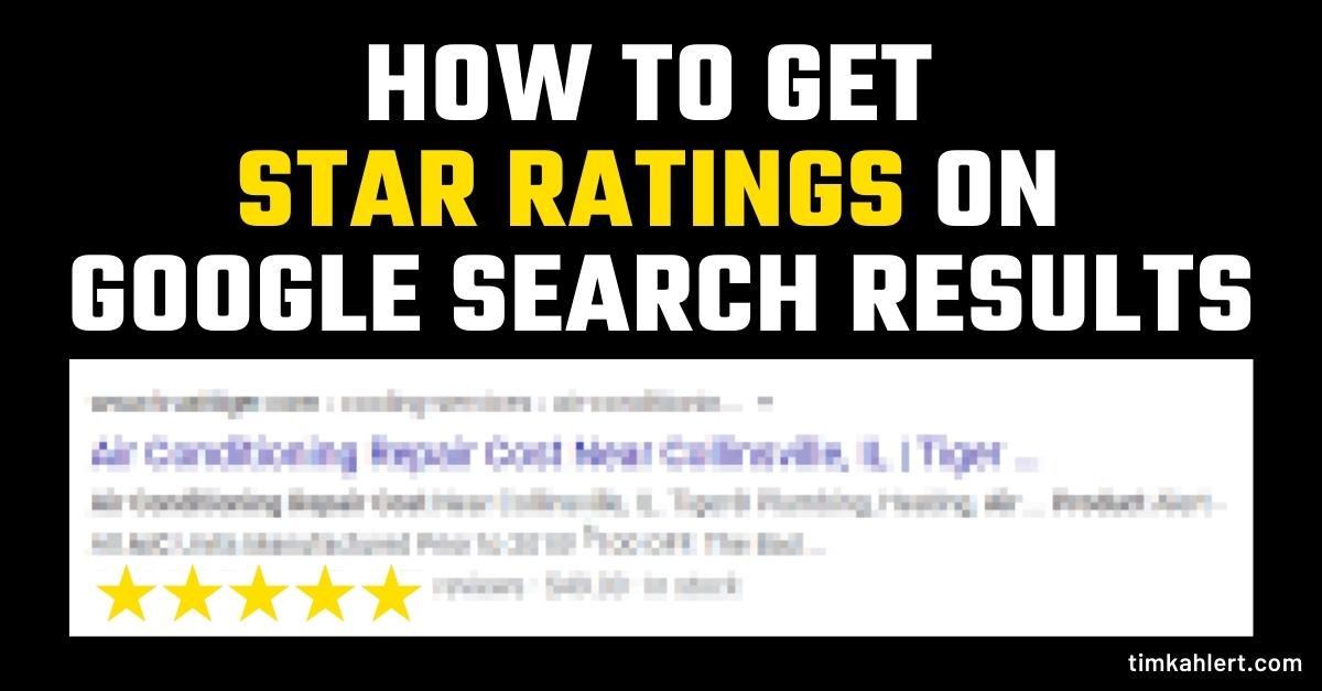 How to get review star ratings on Google search results