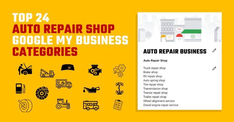 Auto Repair Shop Google My Business Categories