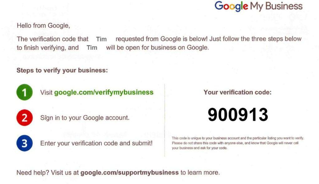 Google My Business Checklist Verification