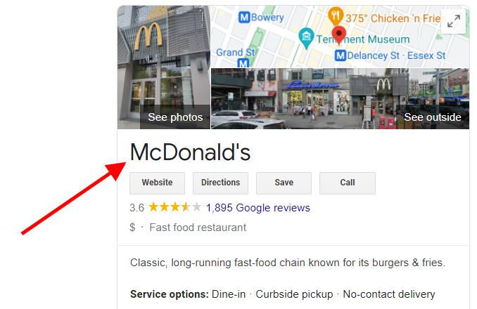 Google My Business Checklist Name Optimization