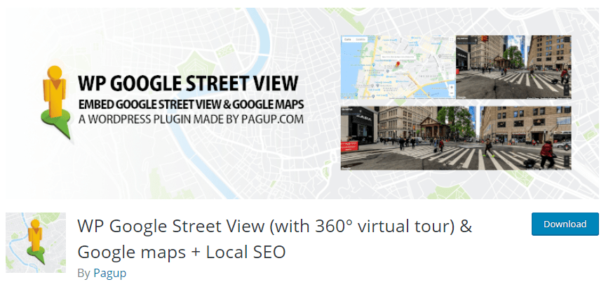 wp google street view plugin for local SEO